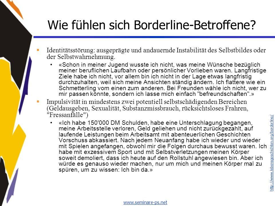 Wie fühlen sich Borderline-Betroffene