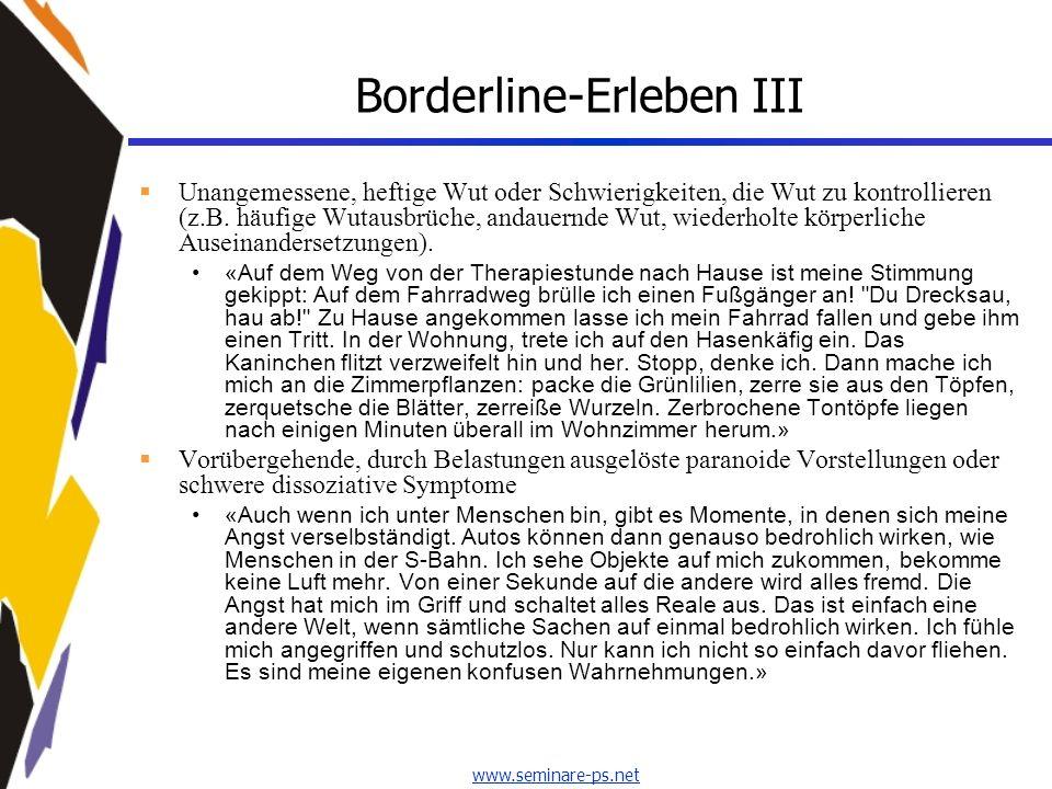 Borderline-Erleben III