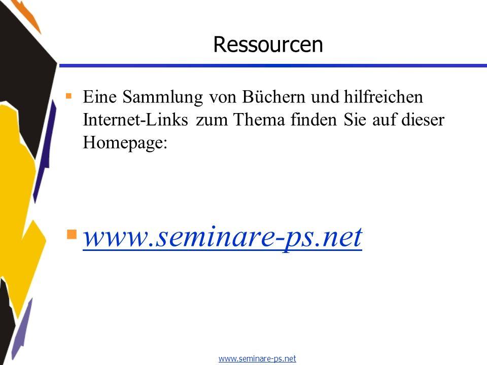 www.seminare-ps.net Ressourcen