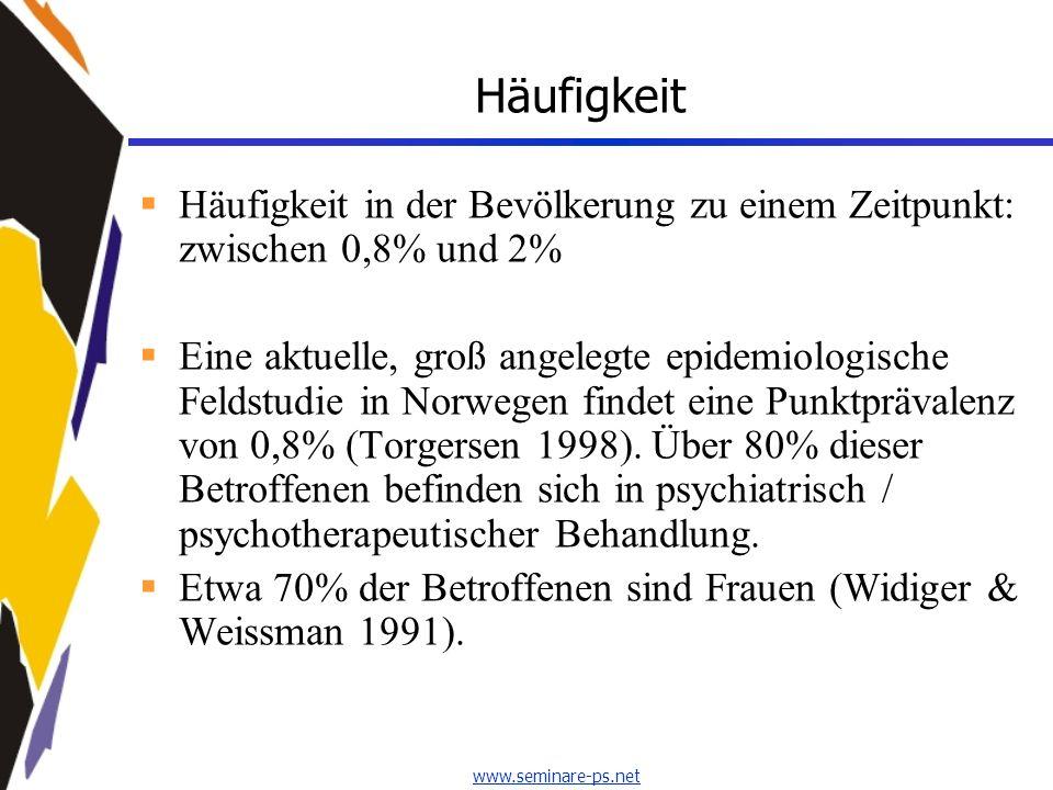 Häufigkeit Häufigkeit in der Bevölkerung zu einem Zeitpunkt: zwischen 0,8% und 2%
