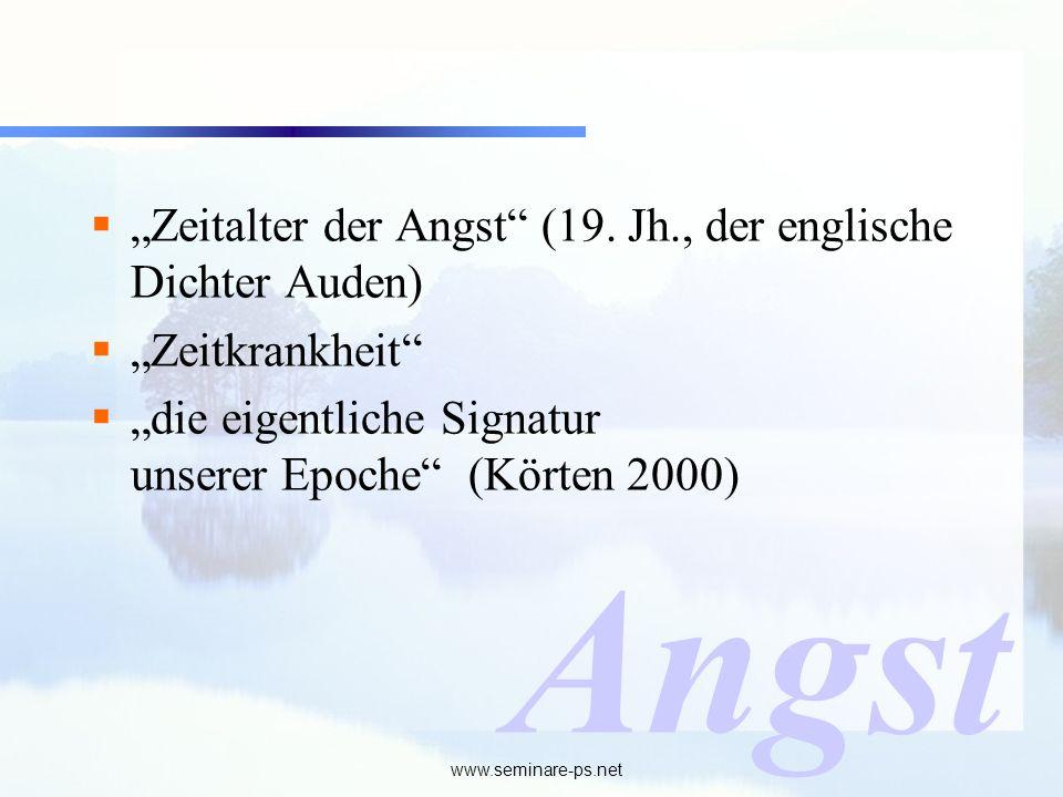 """Angst """"Zeitalter der Angst (19. Jh., der englische Dichter Auden)"""