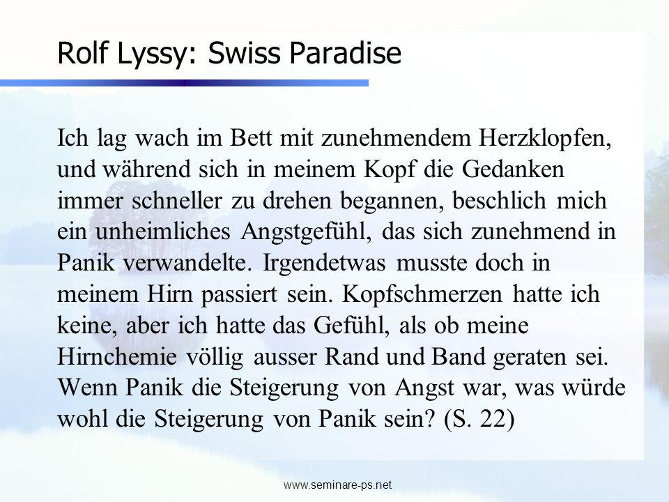 Rolf Lyssy: Swiss Paradise