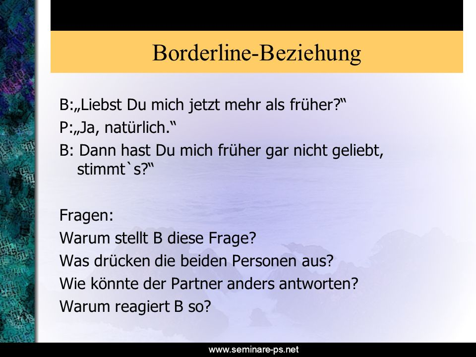Borderline-Beziehung