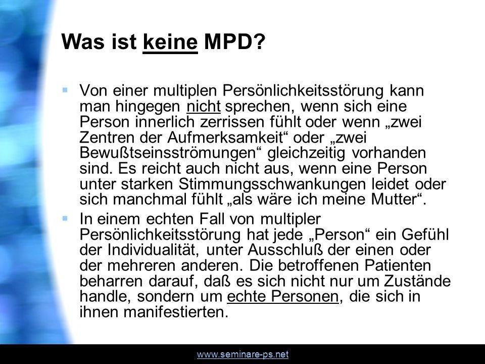 Was ist keine MPD