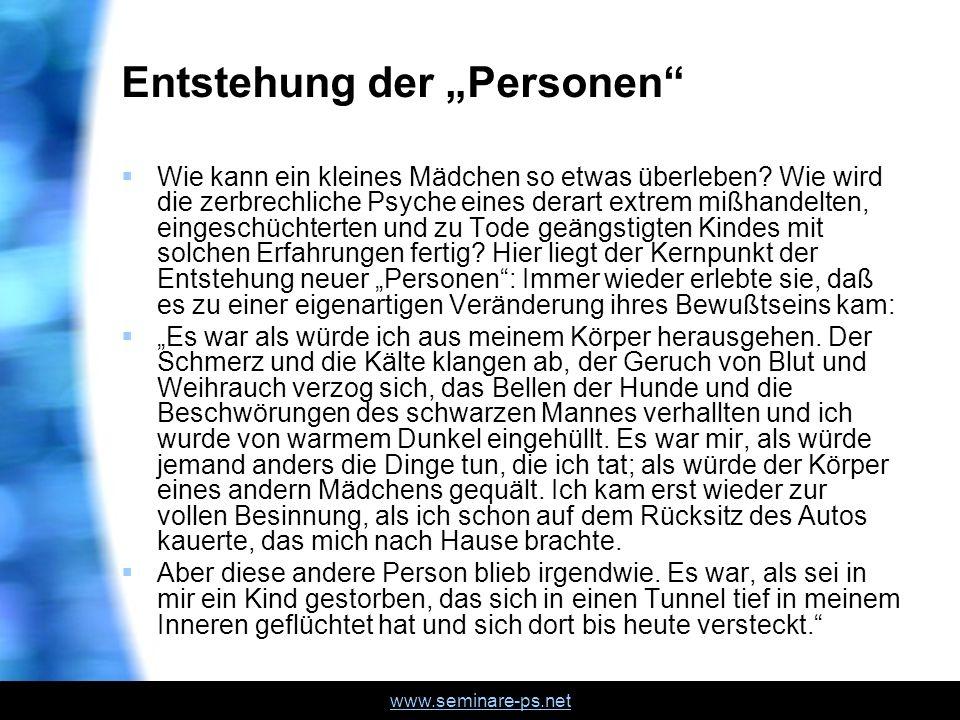 """Entstehung der """"Personen"""