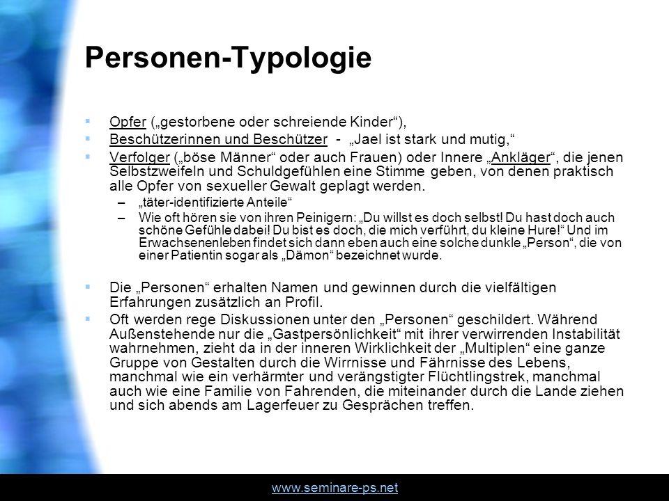 """Personen-Typologie Opfer (""""gestorbene oder schreiende Kinder ),"""