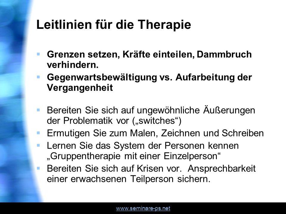 Leitlinien für die Therapie