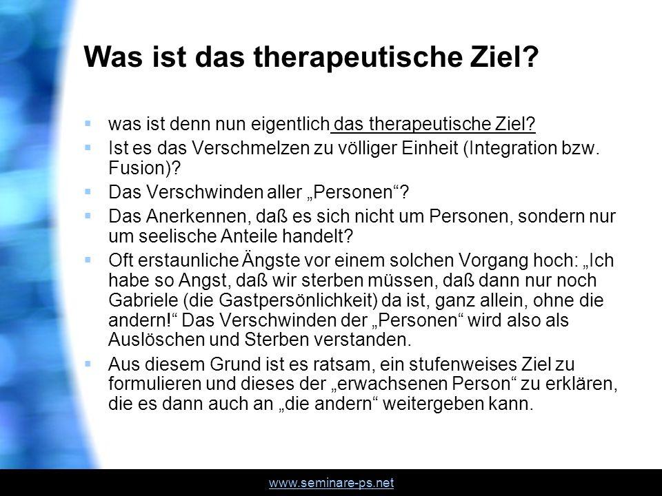 Was ist das therapeutische Ziel