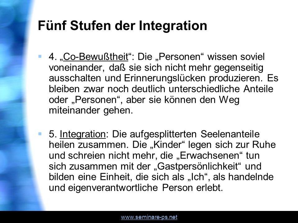 Fünf Stufen der Integration