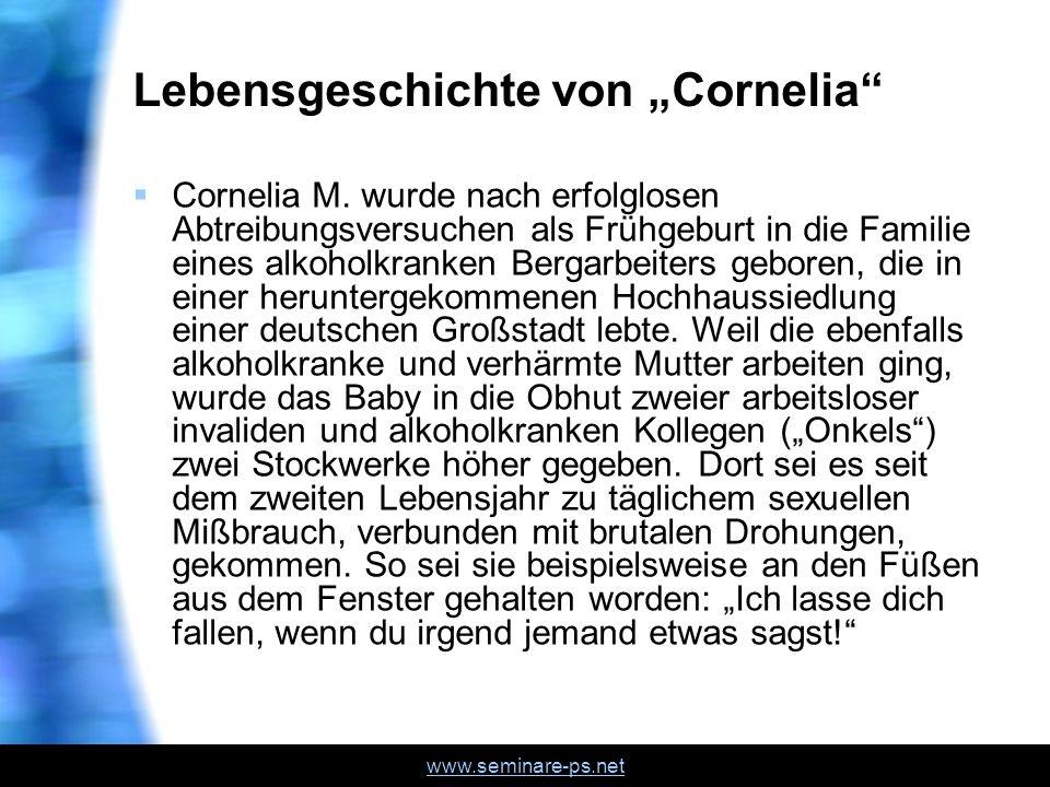 """Lebensgeschichte von """"Cornelia"""