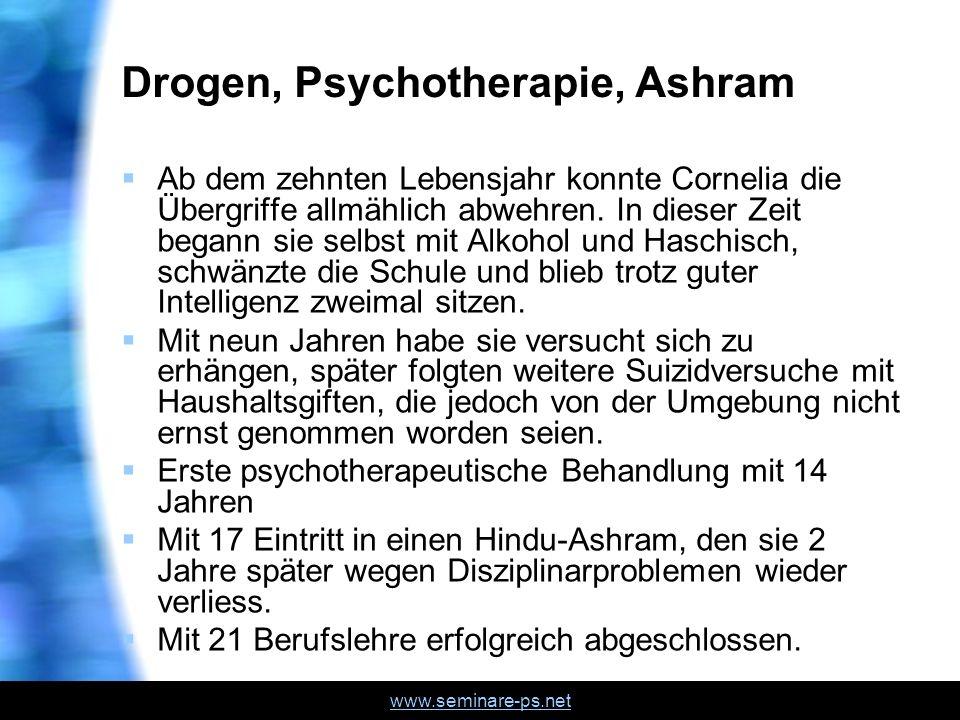 Drogen, Psychotherapie, Ashram
