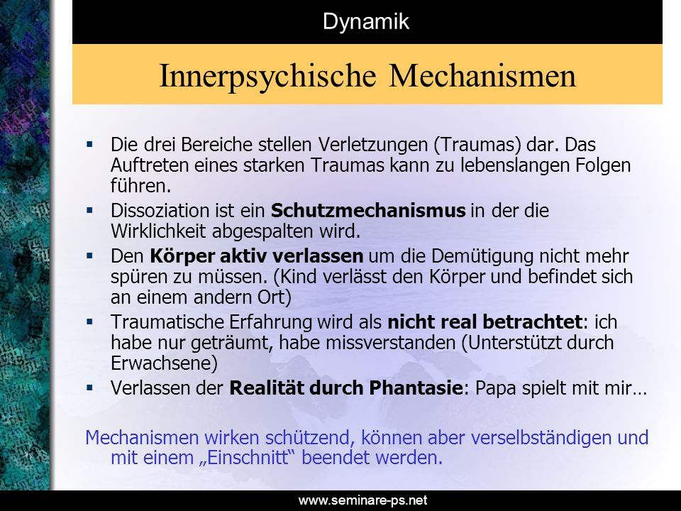 Innerpsychische Mechanismen