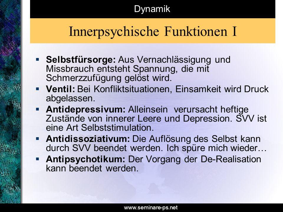 Innerpsychische Funktionen I