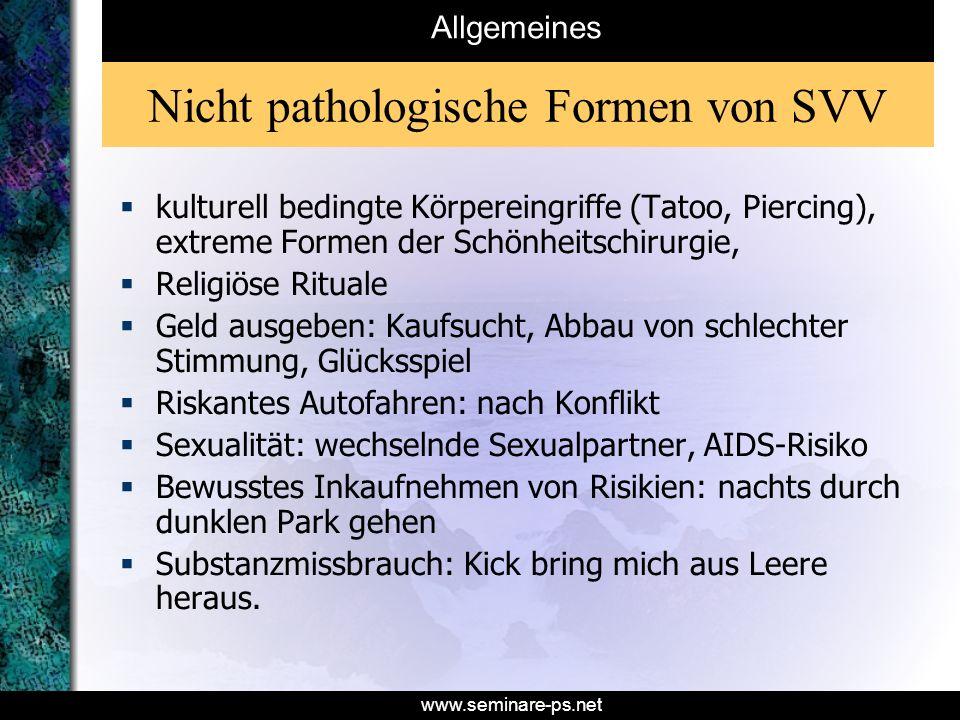 Nicht pathologische Formen von SVV