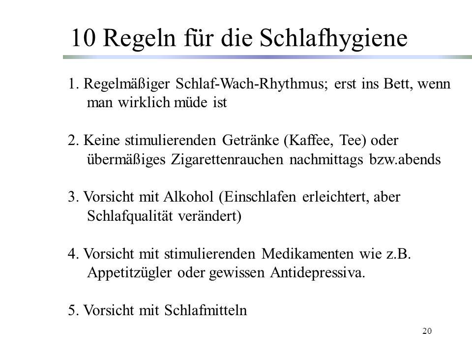10 Regeln für die Schlafhygiene