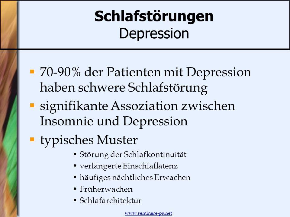 Schlafstörungen Depression