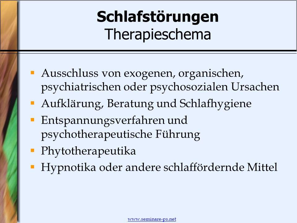 Schlafstörungen Therapieschema