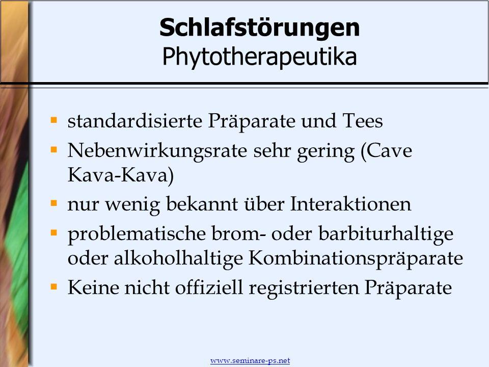 Schlafstörungen Phytotherapeutika