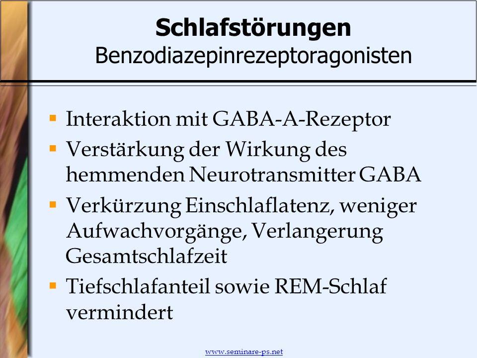 Schlafstörungen Benzodiazepinrezeptoragonisten