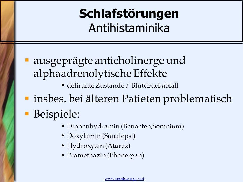 Schlafstörungen Antihistaminika