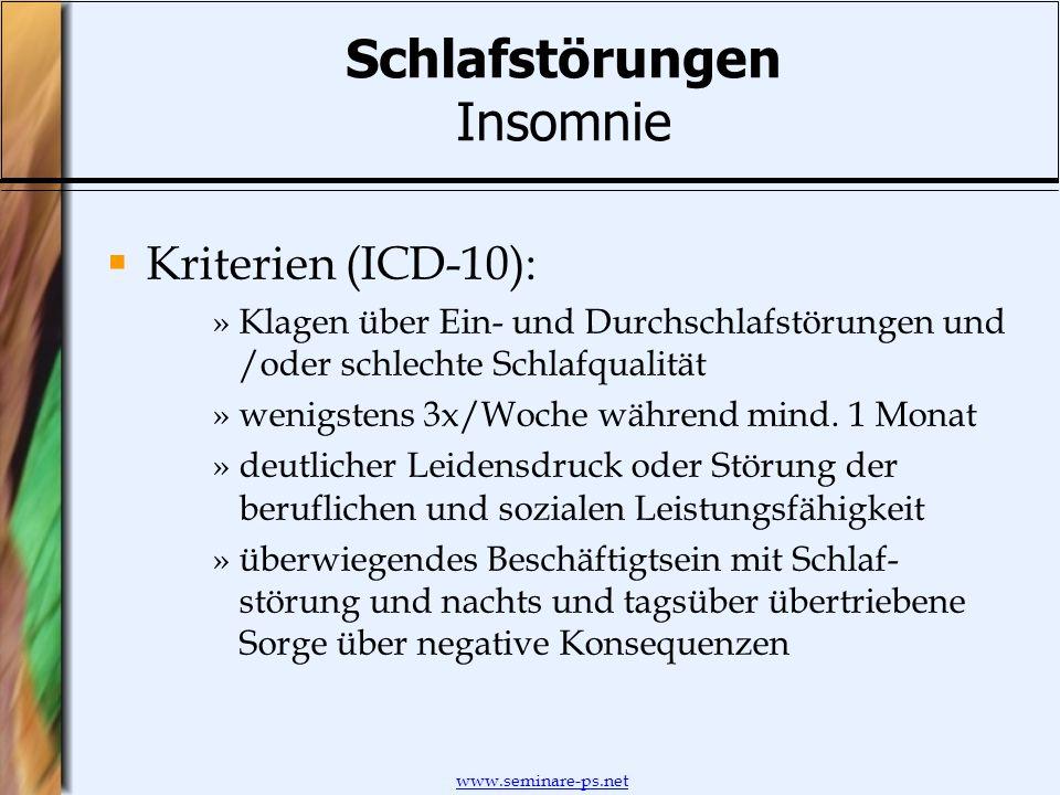 Schlafstörungen Insomnie