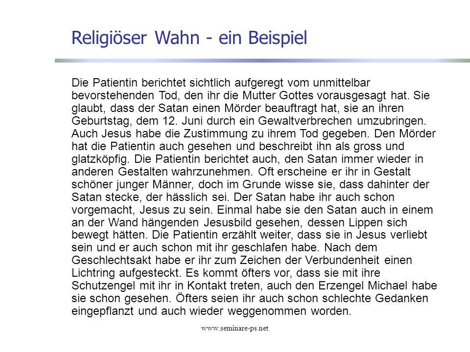 Religiöser Wahn - ein Beispiel