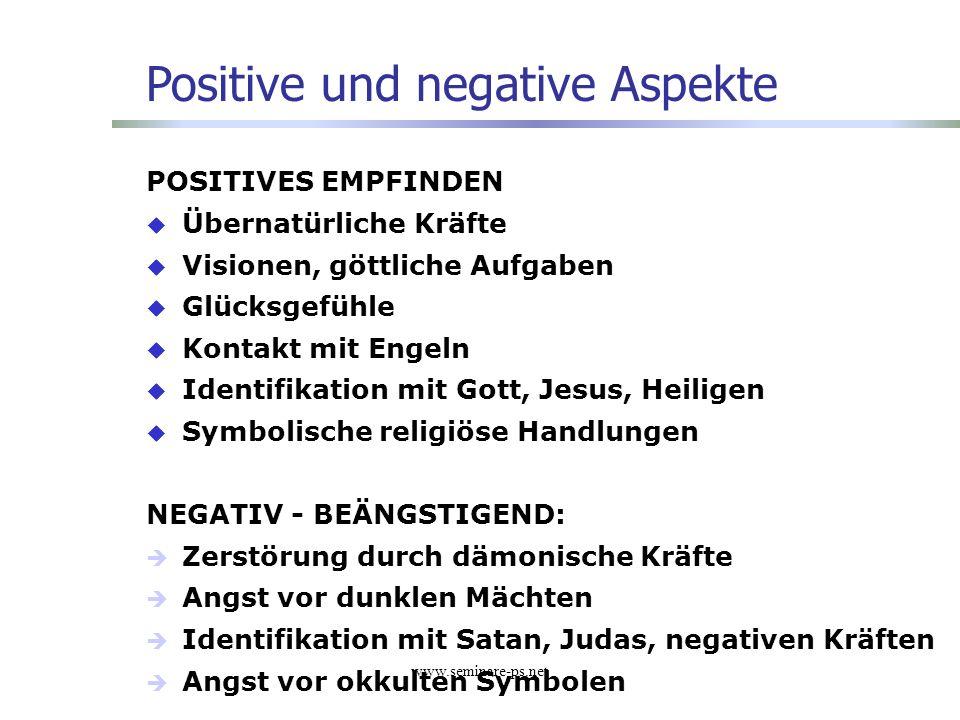Positive und negative Aspekte