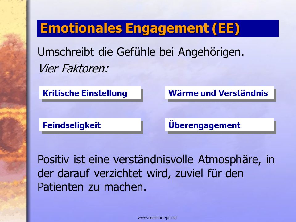 Emotionales Engagement (EE)