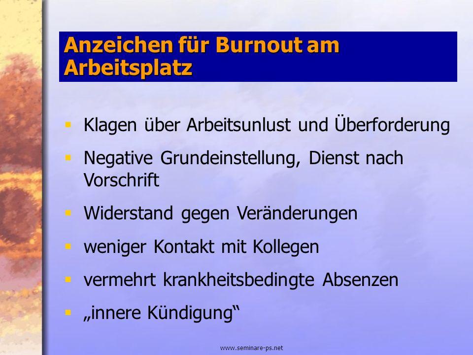 Anzeichen für Burnout am Arbeitsplatz