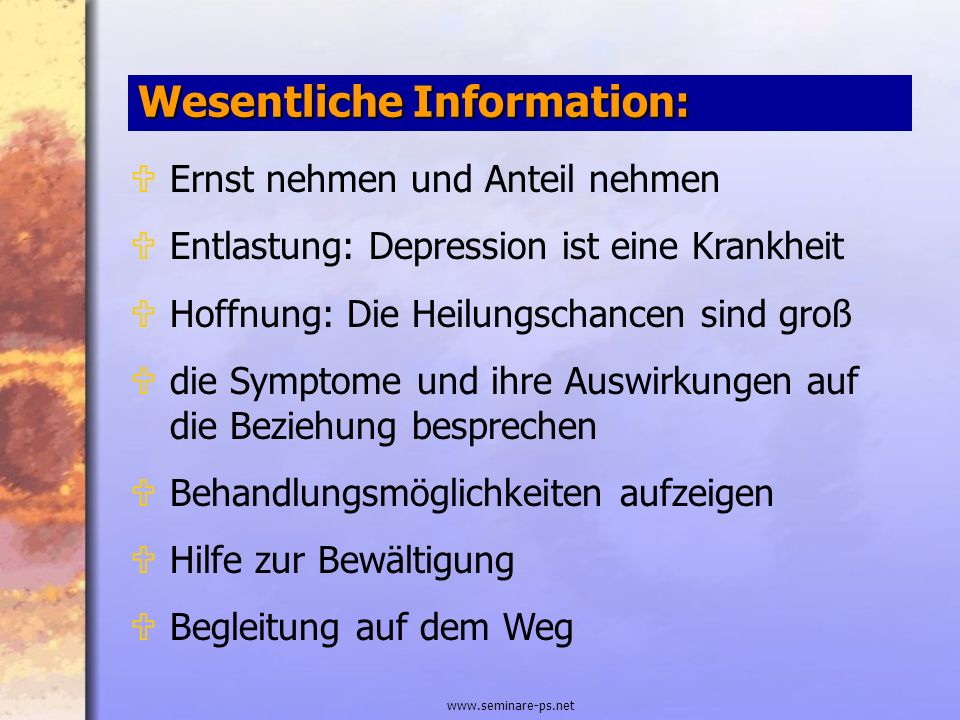 Wesentliche Information: