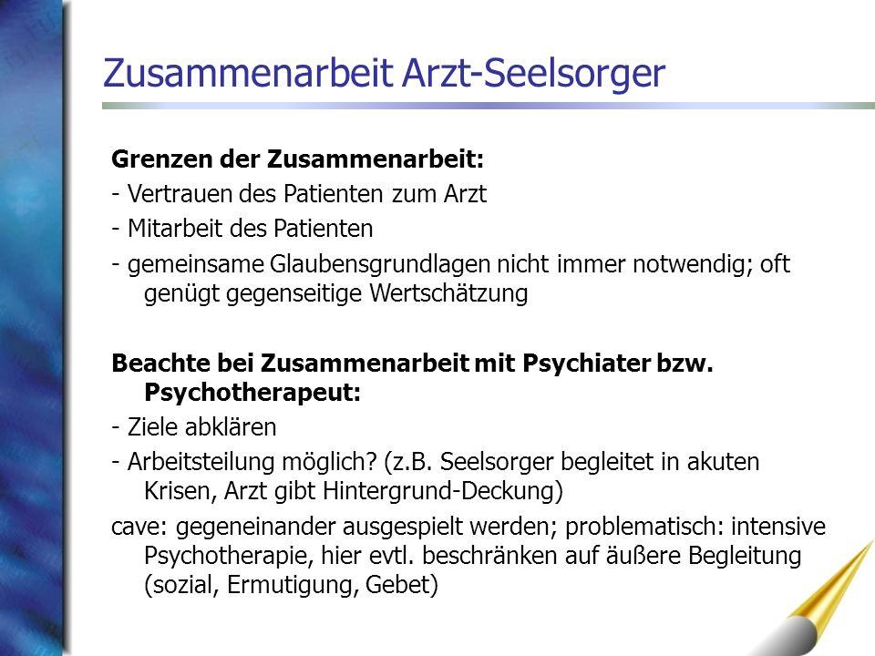 Zusammenarbeit Arzt-Seelsorger