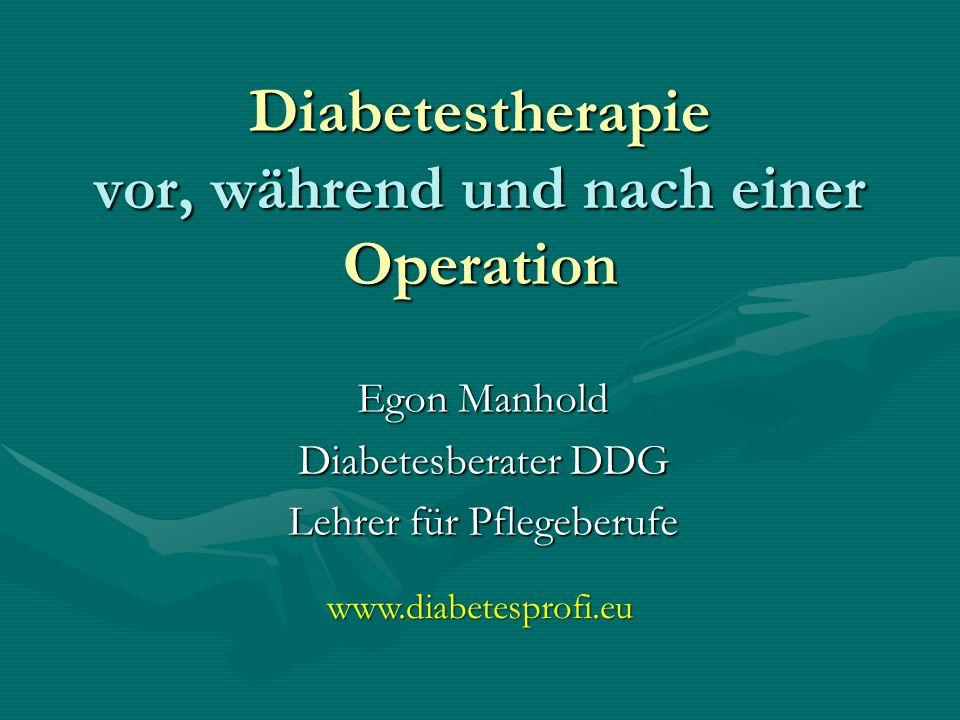 Diabetestherapie vor, während und nach einer Operation