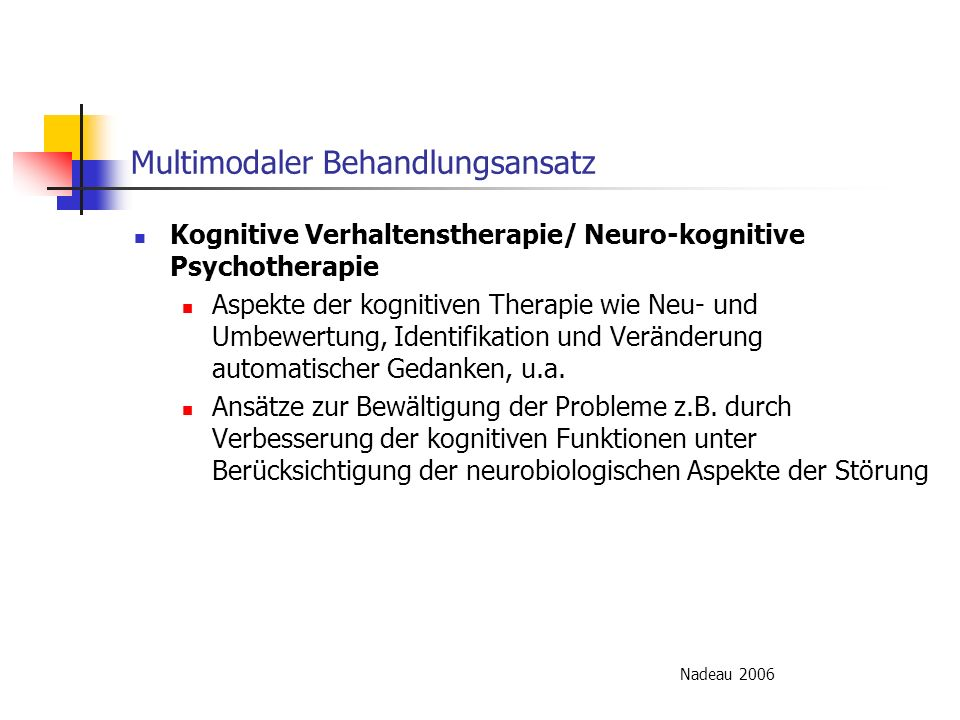 Multimodaler Behandlungsansatz