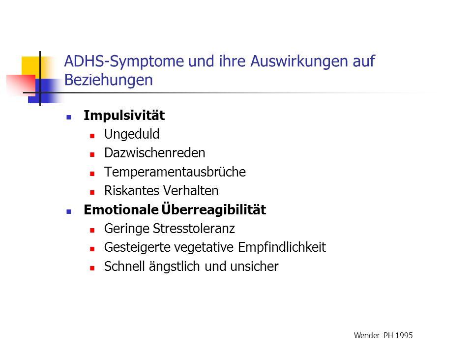 ADHS-Symptome und ihre Auswirkungen auf Beziehungen
