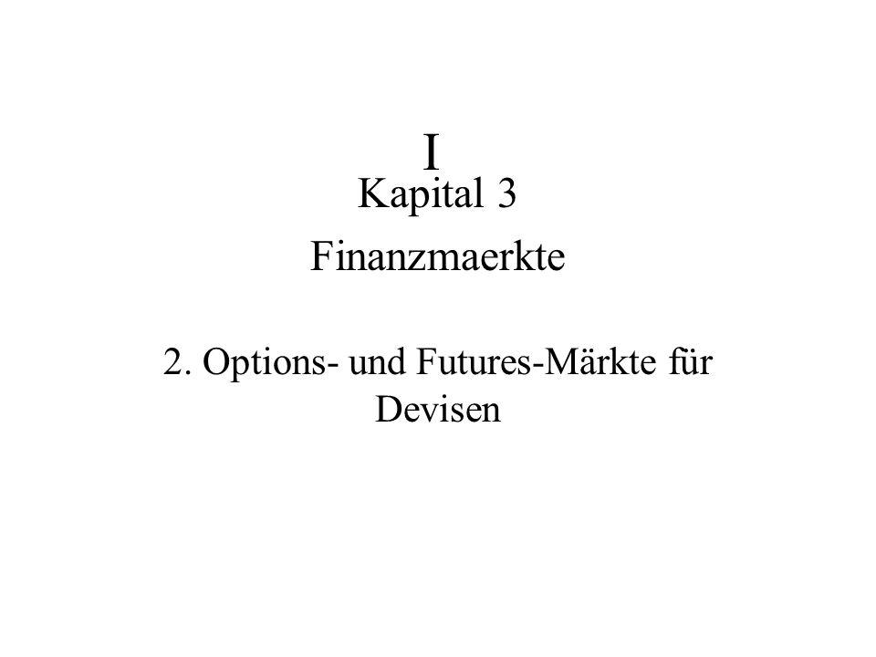 Kapital 3 Finanzmaerkte 2. Options- und Futures-Märkte für Devisen