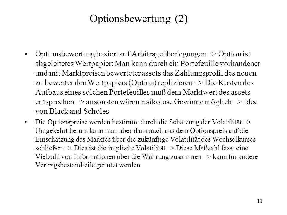 Optionsbewertung (2)