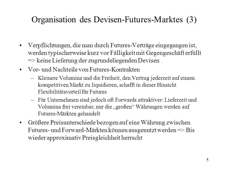 Organisation des Devisen-Futures-Marktes (3)