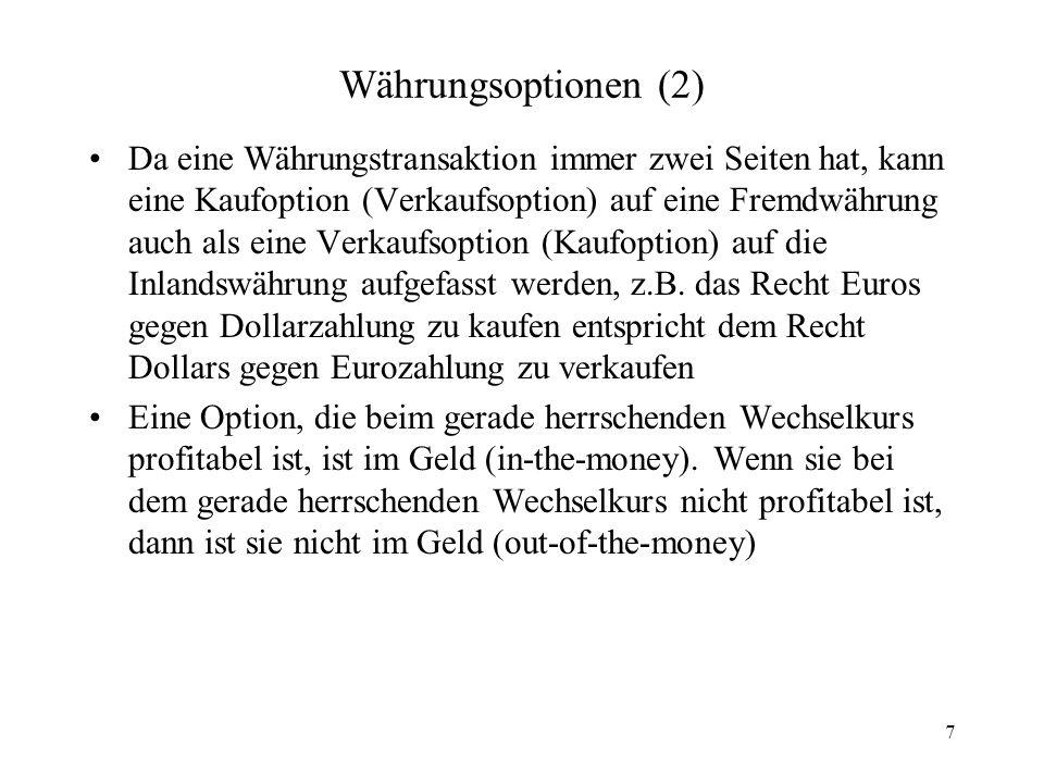 Währungsoptionen (2)