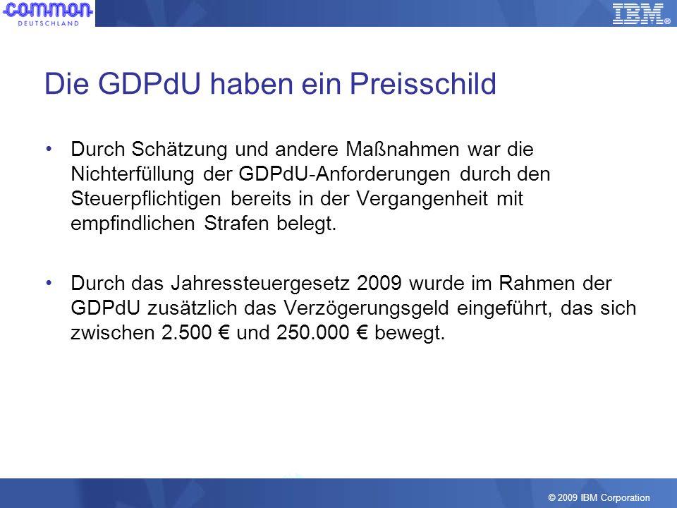 Die GDPdU haben ein Preisschild