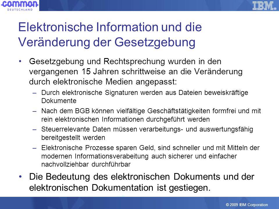 Elektronische Information und die Veränderung der Gesetzgebung