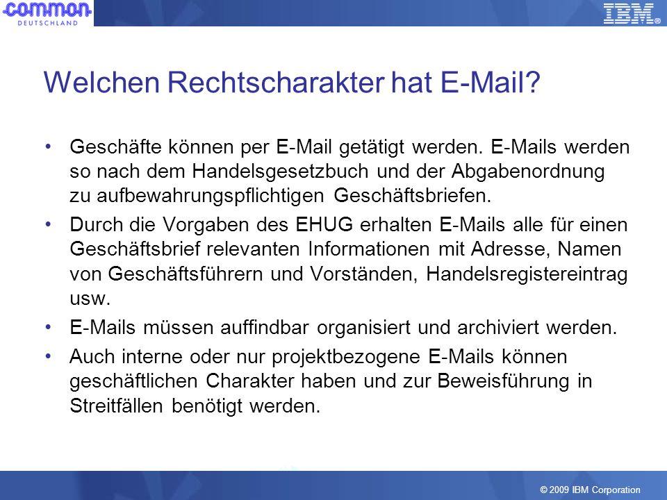 Welchen Rechtscharakter hat E-Mail