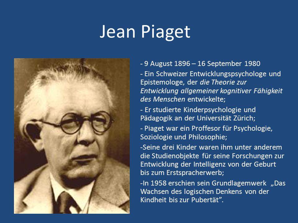 Jean Piaget - 9 August 1896 – 16 September 1980
