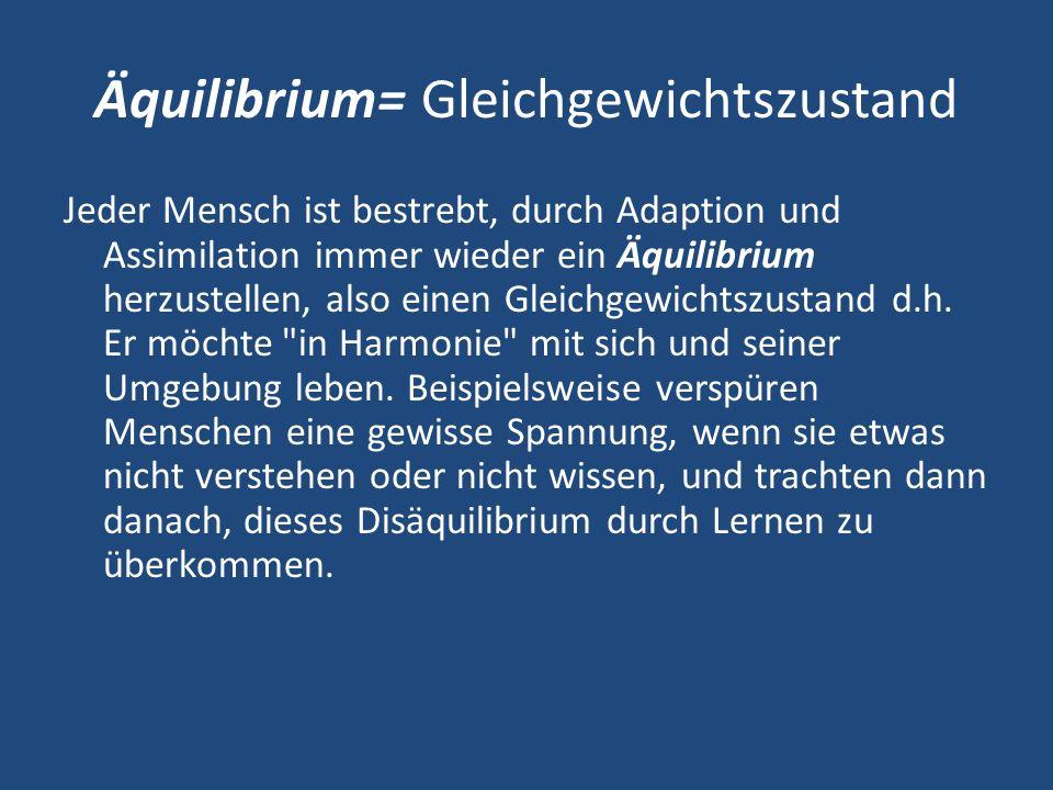 Äquilibrium= Gleichgewichtszustand