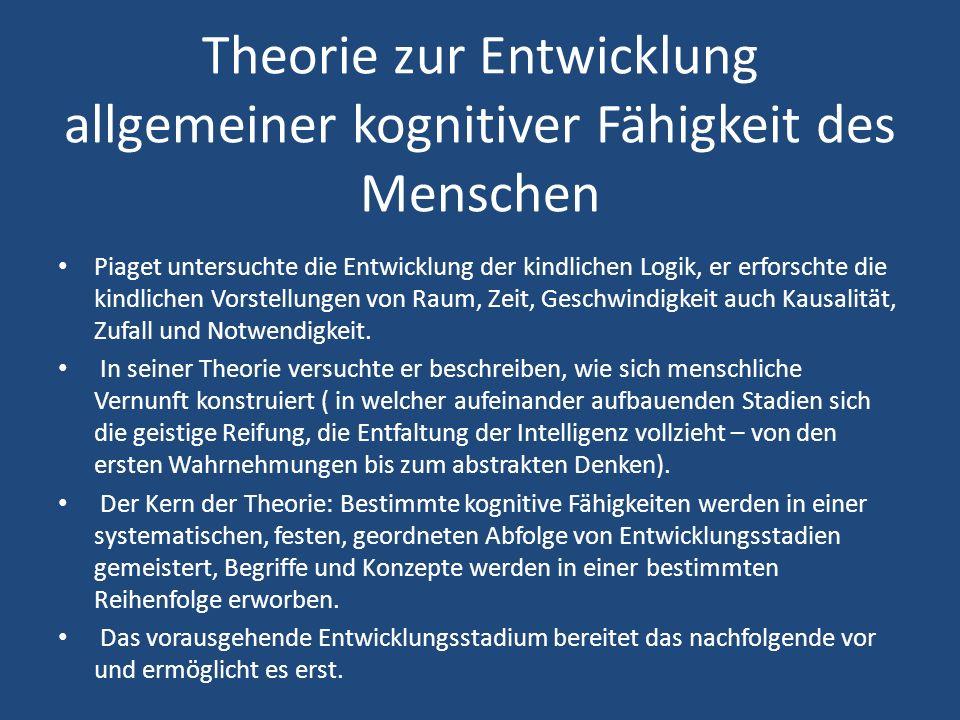 Theorie zur Entwicklung allgemeiner kognitiver Fähigkeit des Menschen
