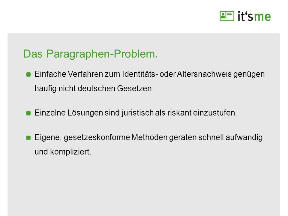 Das Paragraphen-Problem.