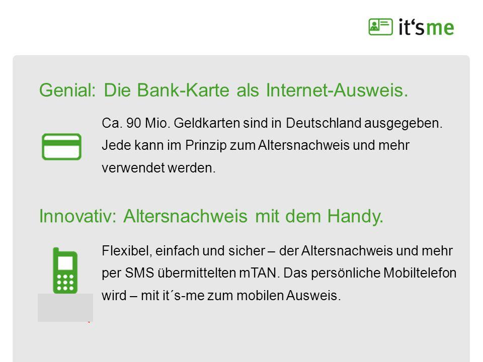 Genial: Die Bank-Karte als Internet-Ausweis.