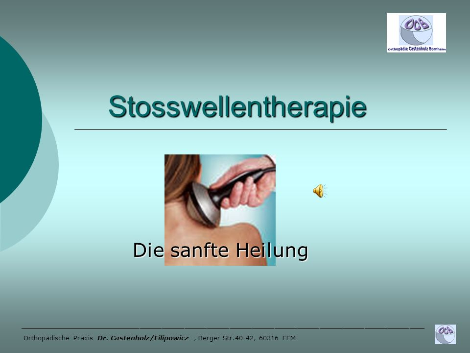 Stosswellentherapie Die sanfte Heilung