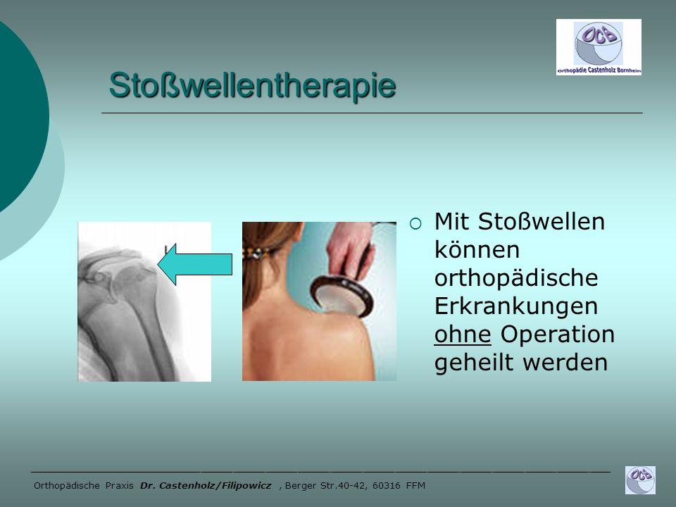 Stoßwellentherapie Mit Stoßwellen können orthopädische Erkrankungen ohne Operation geheilt werden.
