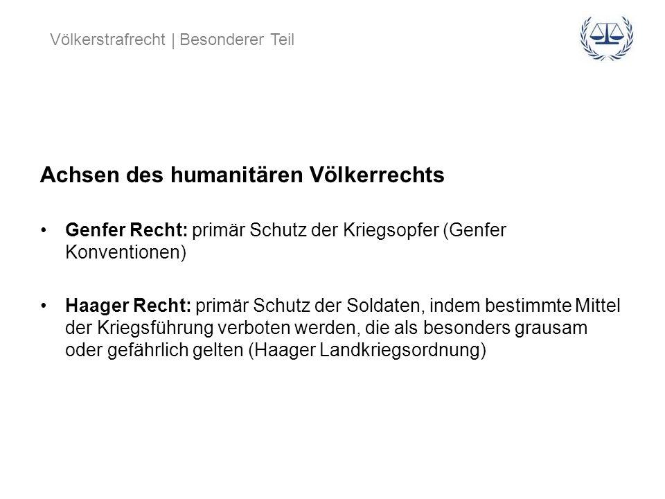 Achsen des humanitären Völkerrechts
