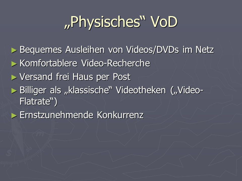 """""""Physisches VoD Bequemes Ausleihen von Videos/DVDs im Netz"""